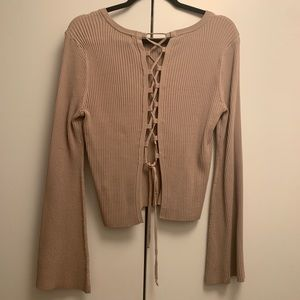 Intermix maybe too with open back, bell sleeves